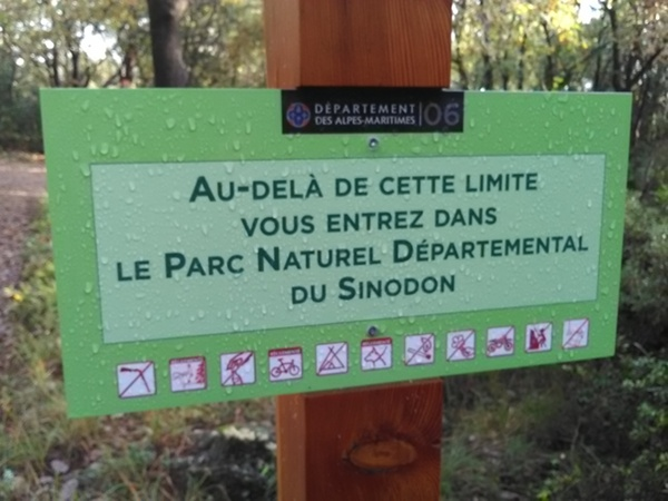 Délimitation du parc naturel départemental du Sinodon