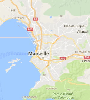 Carte GoogleMaps de la commune de Marseille (13000)
