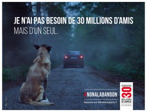 Affiche campagne 30 millions d'amis 2016